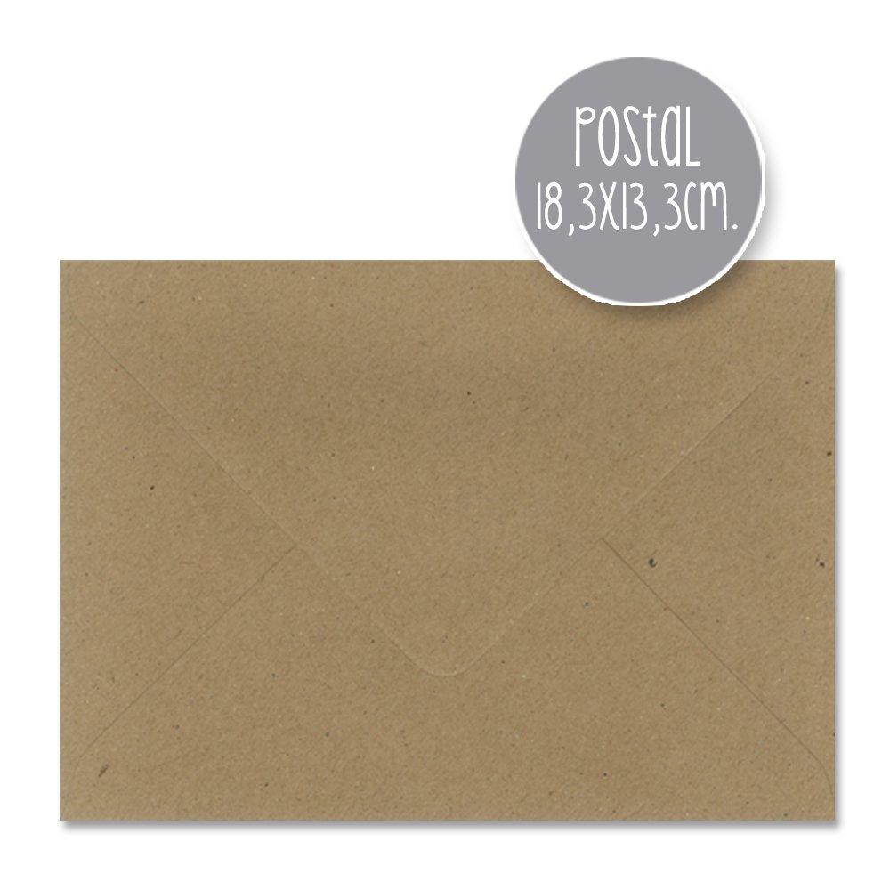 Buste in carta kraft, da 110 g, per matrimonio, misure assortite 15,5x15,5cm CUADRADO Pedragosa
