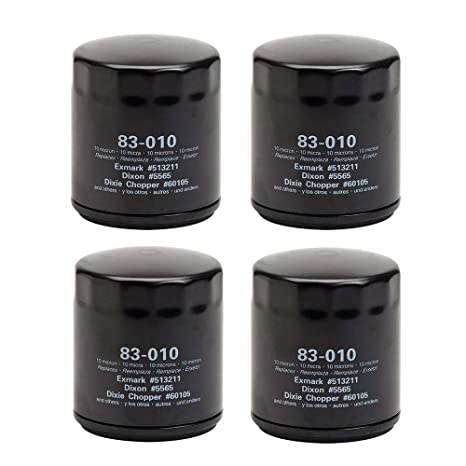 Oregon 83-010 (4 Pack) Oil Filter Replaces Exmark Dixie Chopper 60105