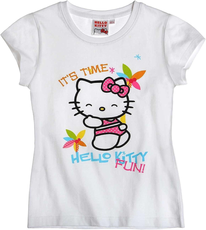 Hello Kitty - Camiseta de manga corta - para niña: Amazon.es: Ropa y accesorios