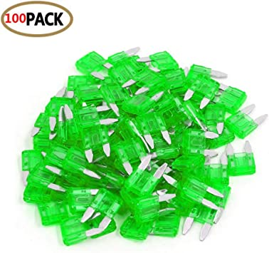 100 Pack 1AMP APM//ATM 32V Mini Blade Style Fuses 1A Short Circuit Protection Car Fuse