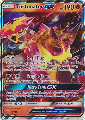 Turtonator-GX - 18/145 - Ultra Rare - Sun & Moon: Guardians Rising
