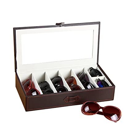 7a493922c30 Amazon.com  YAPISHI PU Leather Sunglasses Box Organizer