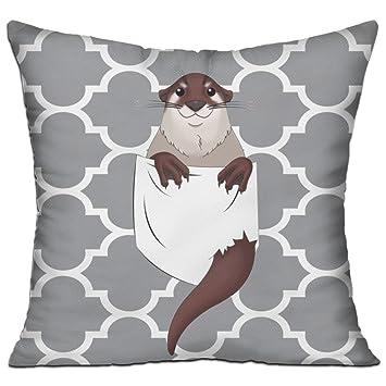 Amazon.com: DKRetro – Funda de almohada con bolsillo otter ...