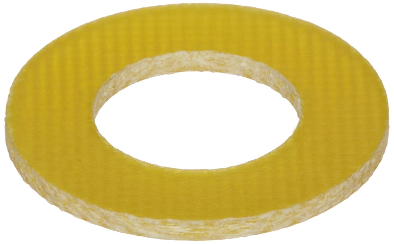 Fiberglass Flat Washer, 1-3/8'' Hole Size, 0.203'' ID, 0.443'' OD, 0.062'' Nominal Thickness, Made in US (Pack of 50)