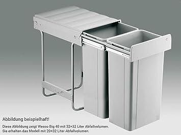 Wesco Big 40 757822-85 Einbau Abfallsammler Müll-Eimer Abfalleimer ...