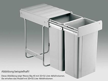 Wesco Big 40 757822-85 Einbau Abfallsammler Müll-Eimer ...