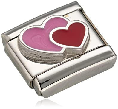 Nomination Composable Women's Charm Stainless Steel Enamel Red Heart 330202/17 Rcphe