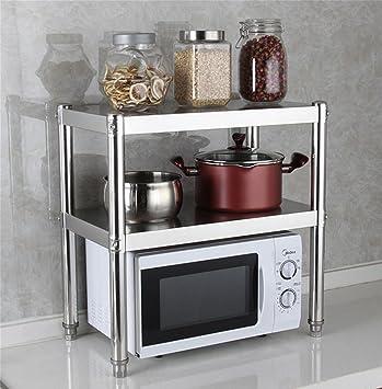 SQL Estantería de cocina de acero inoxidable gruesa Estante ...