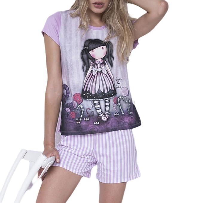 Pijama Mujer Verano Gorjuss - Sugar and Spice, XS