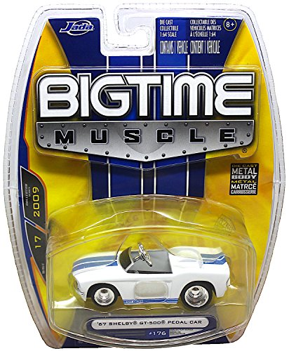 Jada Bigtime Muscle 1:64 Scale Diecast Body '67 Shelby GT-500 Pedal Car #176 (Pedal Gt500)