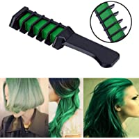Temporary Hair Chalk Hair Color Comb Washable Hairs Color Dye Salon Kits Party Fans Cosplay (green)