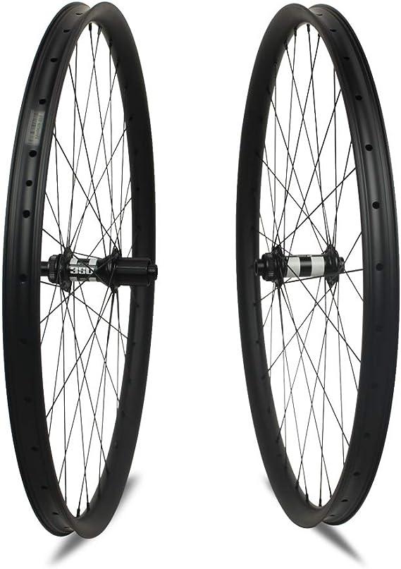 Yuanan - Rueda de Carbono para Bicicleta de montaña Cross Country XC (1400 g, 29er con buje DT 350 MTB): Amazon.es: Deportes y aire libre