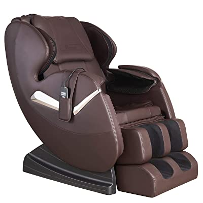 Nager Electric Massage Chair Massage Sofa Full Body Zero Gravity Shiatsu Recliner Kneading & Vibration Massage with Heat, Brown