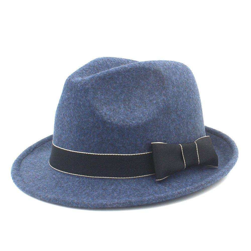 LLPBUA-HAT Women//Men Chapeau Femme Fedora Unisex Hat Trilby Church Derby Cloche Top Cap with Bow