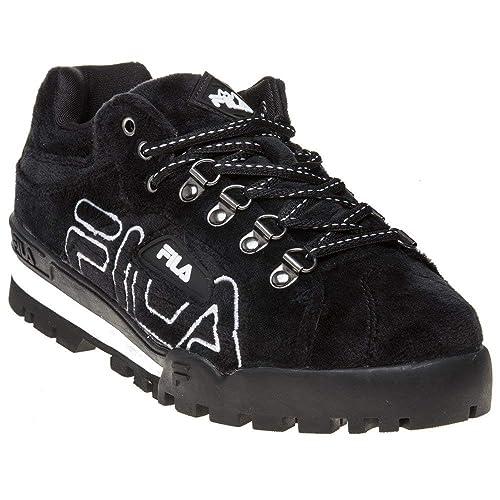 d56a0b989612 Fila Trailblazer Premium Velour Boots Black  Amazon.co.uk  Shoes   Bags