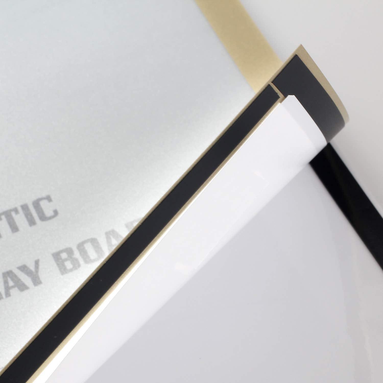 TUKA-i-AKUT 10st A3 Info-Rahmen Selbstklebend mit Magnetverschluss Einstecktasche Infotasche Blatthalter Schnelles Wechseln von Aush/ängen TKD8400-A3-10x Aufklappbarer Magnetrahmen Farbe Silber