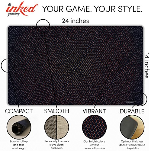 Inked Playmats DJ Sliver Playmat Inked Gaming Perfect for Card Gaming TCG Game Mat