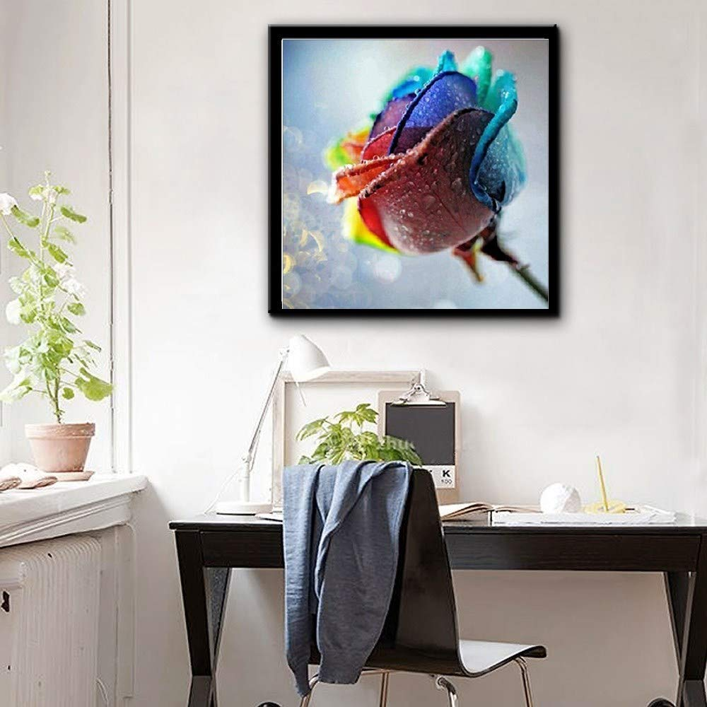 Andbby DIY 5D Diamond Painting, Crystal Rhinestone Embroidery Pictures Arts Craft for Home Wall Decor a Flower Full Drill 30x30cm