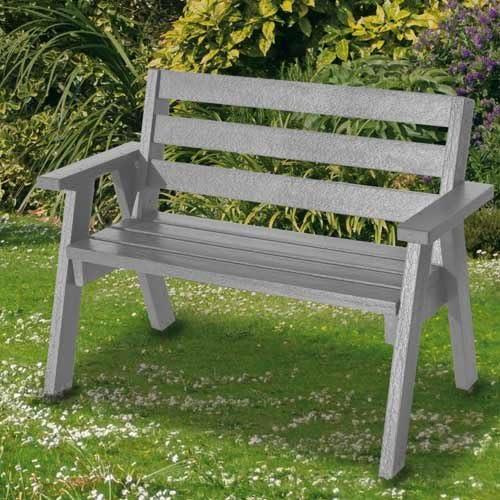 Plástico reciclado doble asiento banco de jardín – elección de ...