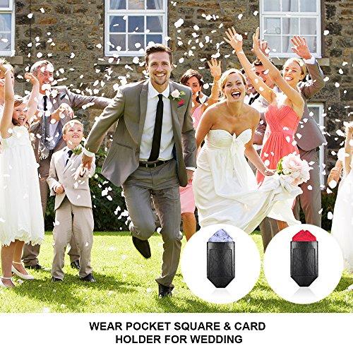 Pocket Squares For Men,Silk Men's Suit Handkerchiefs with Pocket Square Holder Set For Wedding Party Men Gift by pocket square (Image #1)