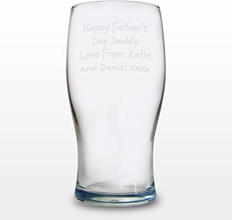 Personalised Engraved Pint Glass-Any Message//Image-Weddings Birthday Stag Usher