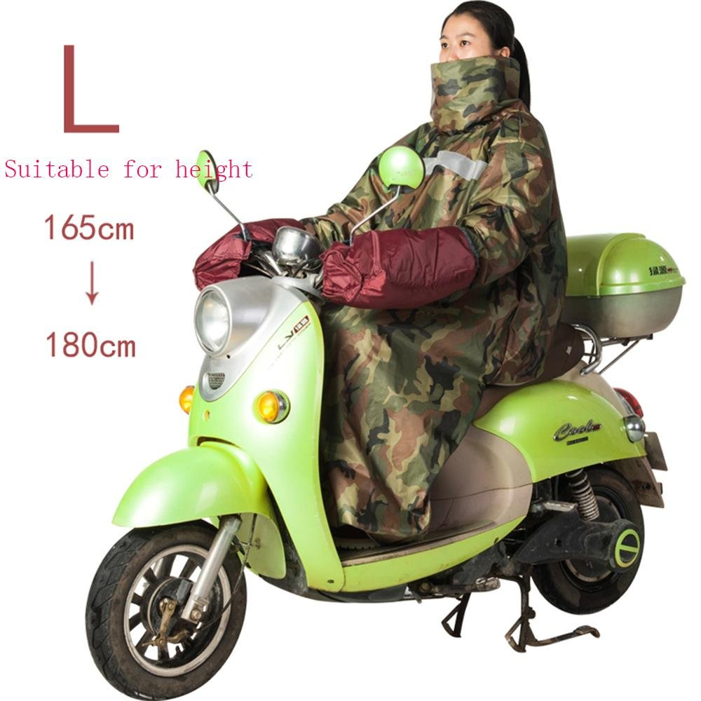 D XUEXIN Electric car windproof warm cover plus velvet winter waterproof riding clothes warm blanket