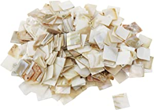 HONJIE 20x20mm Bulk Natural Mother of Pearl Mosaic Tiles for Home Decoration or DIY Crafts,300Pcs