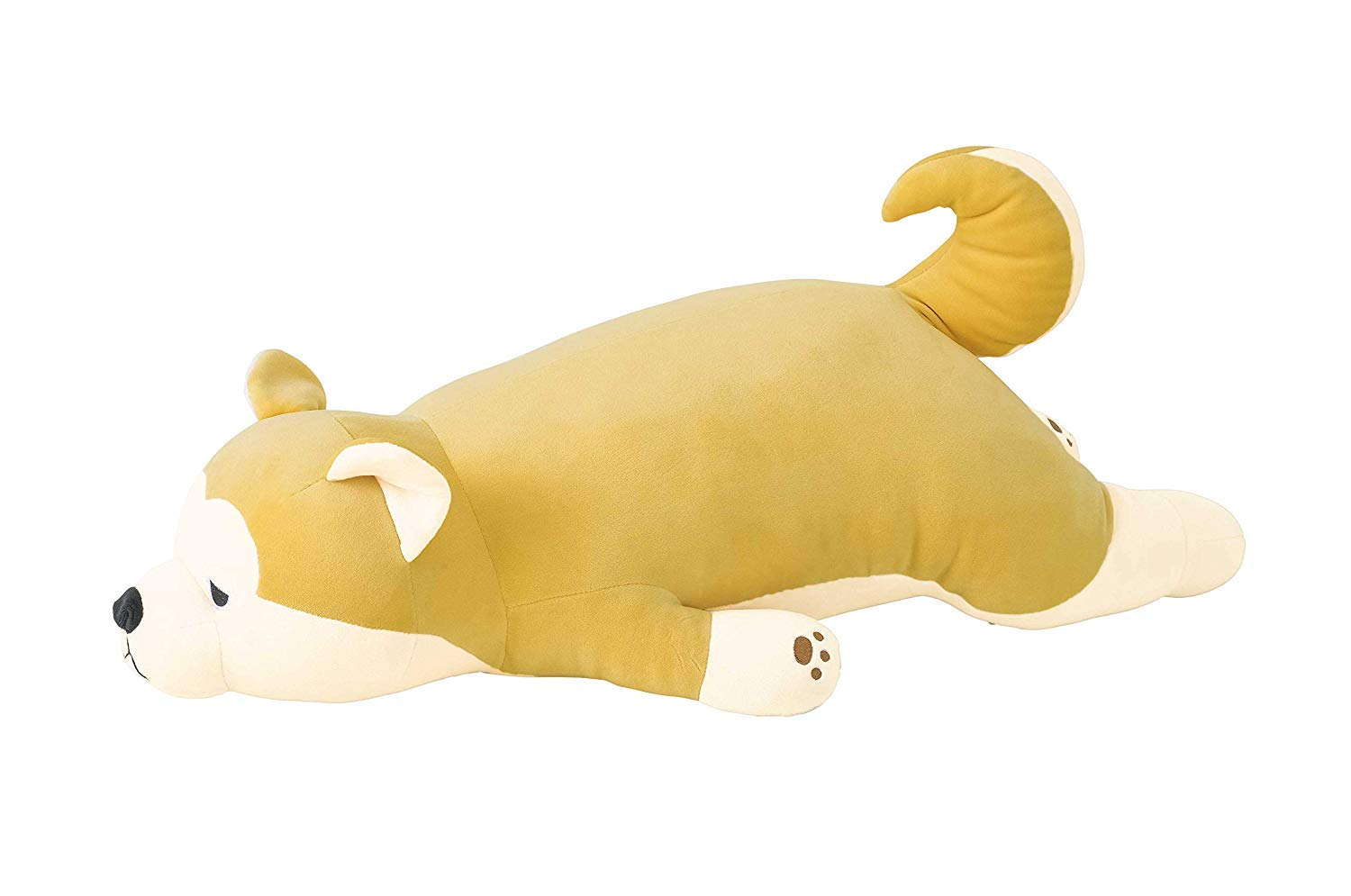 Livheart Akita-Inu Premium Nemu Nemu Sleepy Head Animals Body Pillow Plush Famous Yellow-Beige Hachi Dog 'Masao' Size L (26''x12''x7'') Japan Import 58208-42 Huggable Super Soft Stuffed