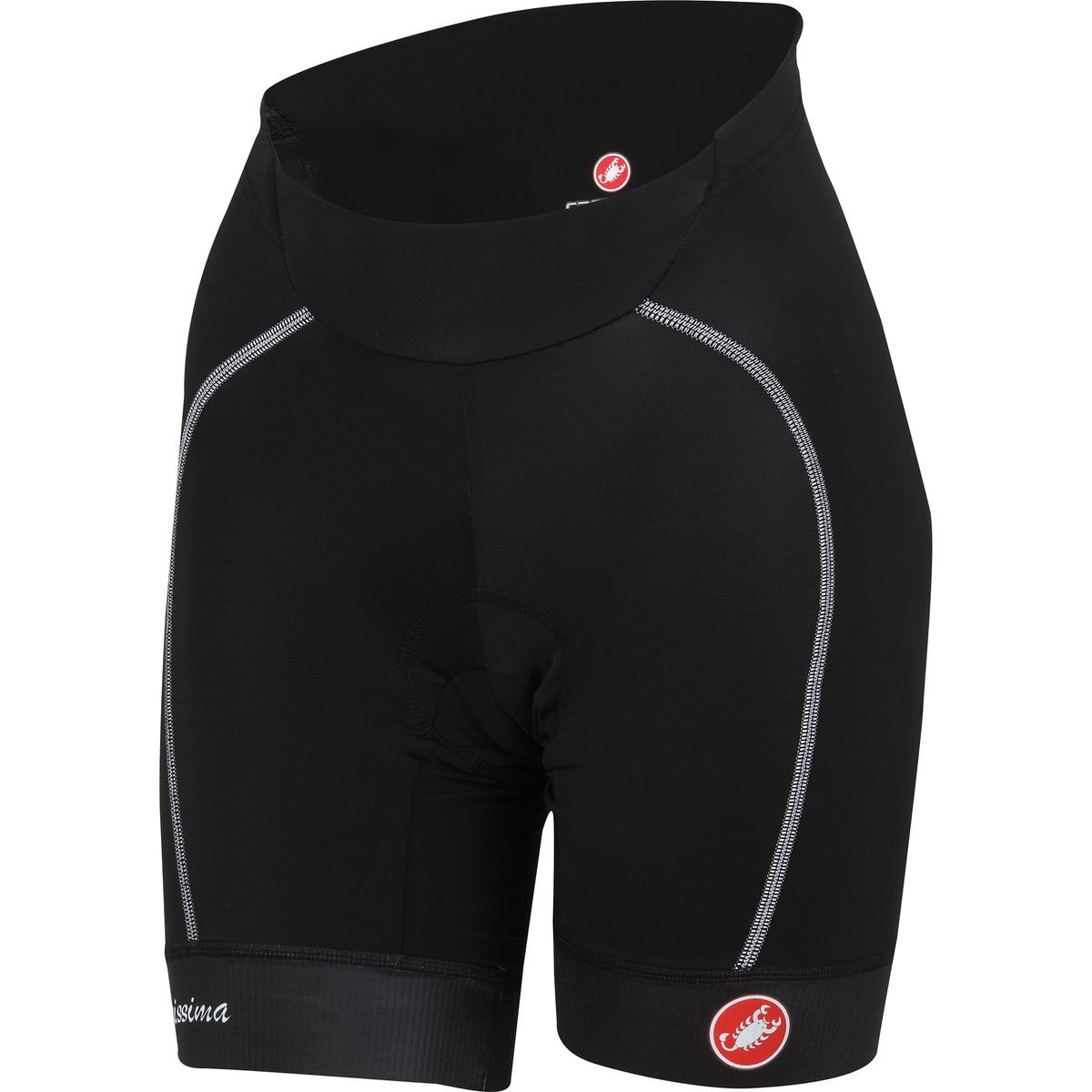 Castelli Velocissima Short - Women's Black/White, XS by Castelli (Image #1)