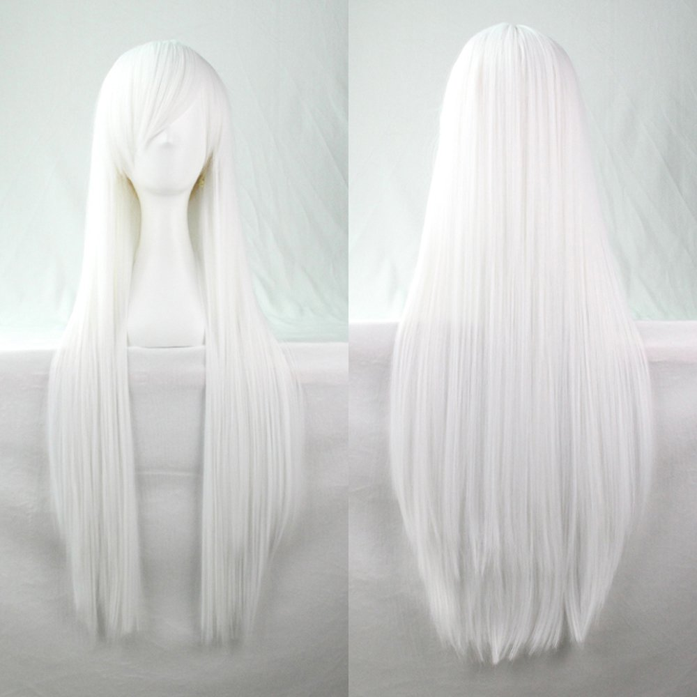 Pure White Straight Hair Wig