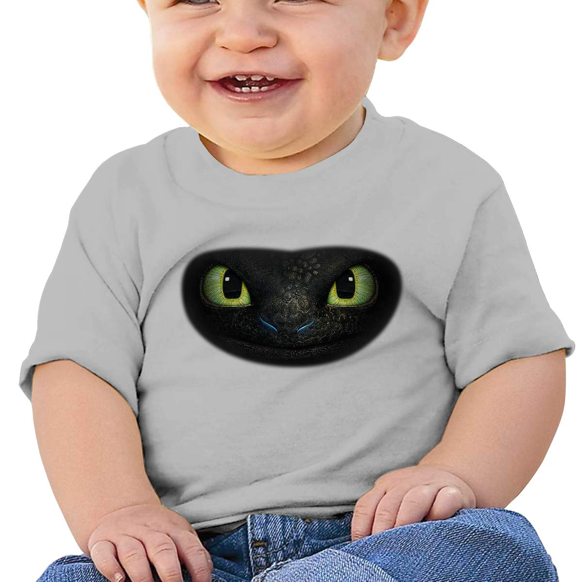 HuoFengDing How to Train Your Dragon3 Dragon Tee Custom Cute T-Shirts for Infant Black