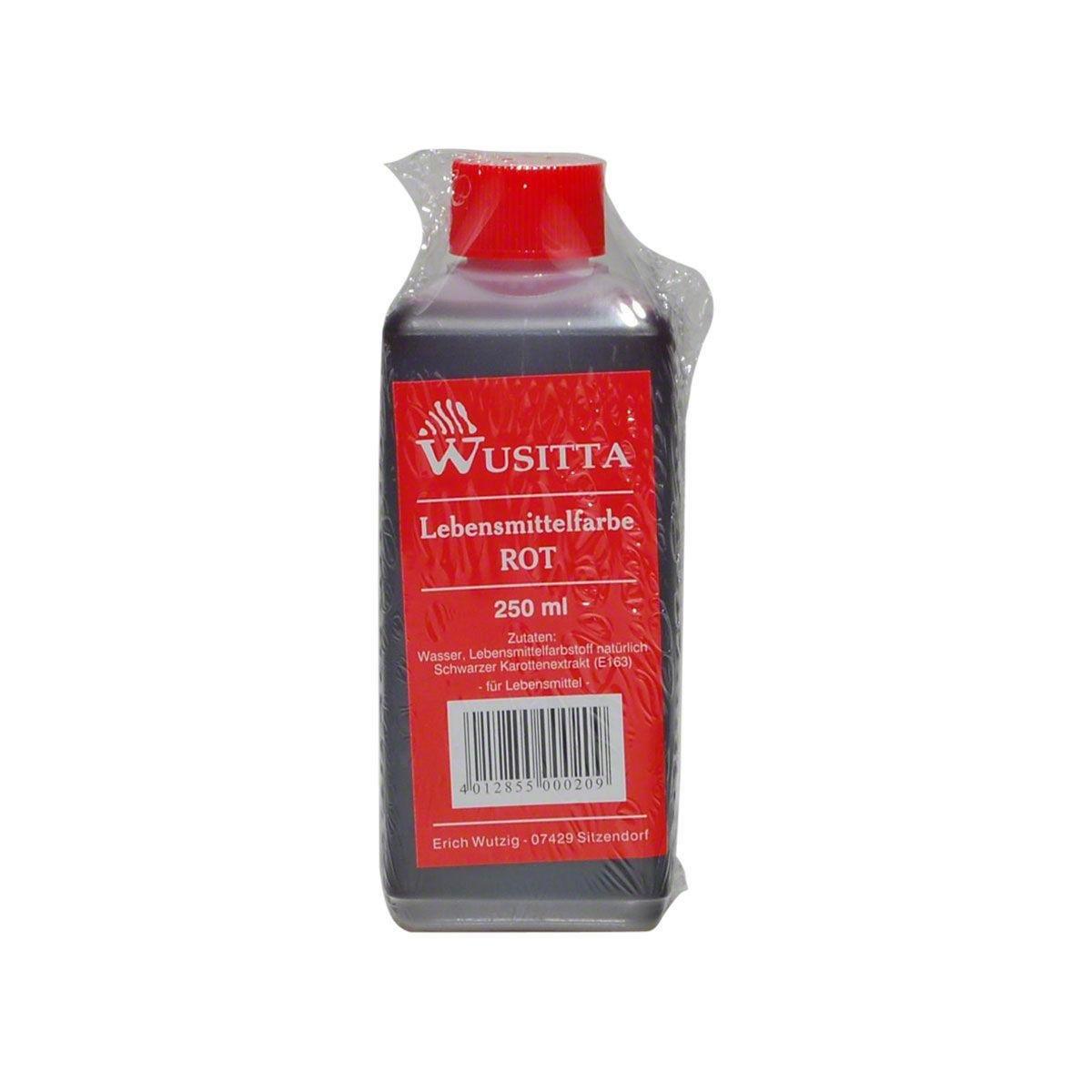 Amazon.com : Wusitta Lebensmittelfarbe rot - 1 x 250 ml : Grocery & Gourmet Food