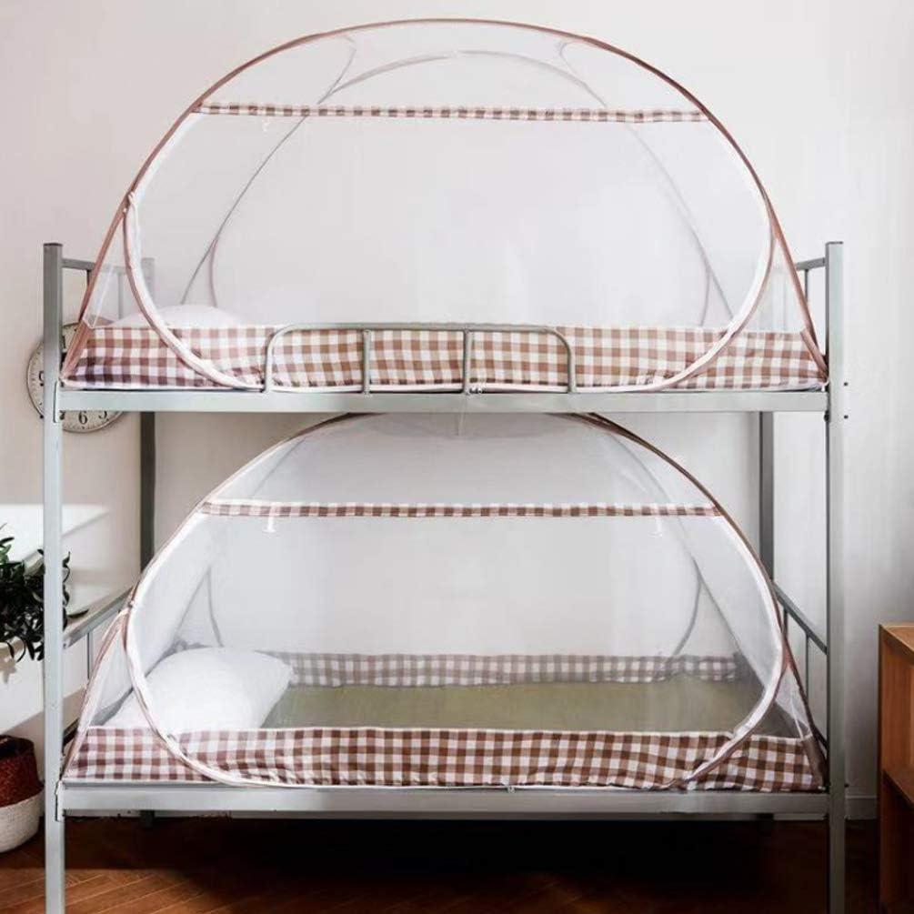 200 100cm XGYUII Student Moskitonetz Bett-/Überdachungs-Netz-Jurten-Schlafsaal-Koje Freie Installation Moskitonetz Innenzelt Faltbares Einzelt/ür-Moskitonetz,A,100