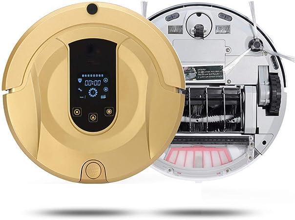 TYUIO Aspirador Robot (Delgado) con trapeador y Tanque de Agua, Aspirador robótico súper silencioso y autocargante, Limpia Pisos Duros para alfombras de Pila Media: Amazon.es: Hogar