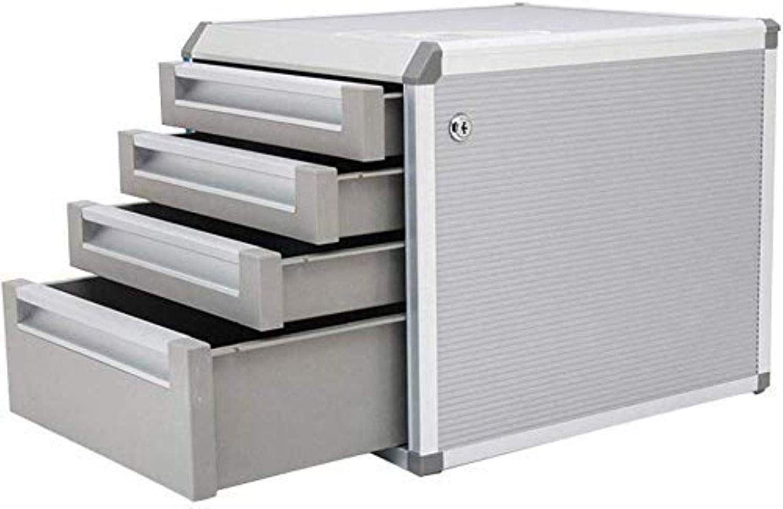 Archivador plano Caja de almacenamiento de archivos gabinetes de plata de escritorio cajón de escritorio Tipo Gabinete 4ª Planta A4 plástico datos armario con cerradura de Muebles for el Hogar Oficina: Amazon.es: