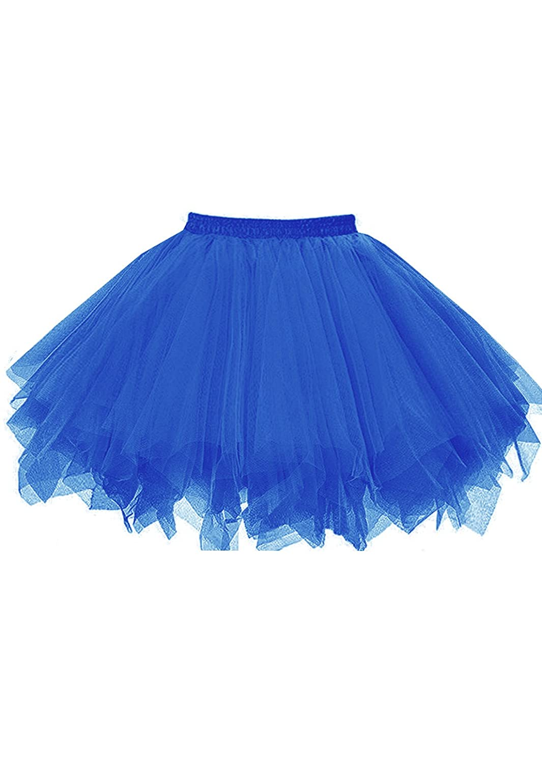 Royal bluee malishow Womens Short Tutu Costume Tulle Skirt Dance Multicolord Party Petticoat