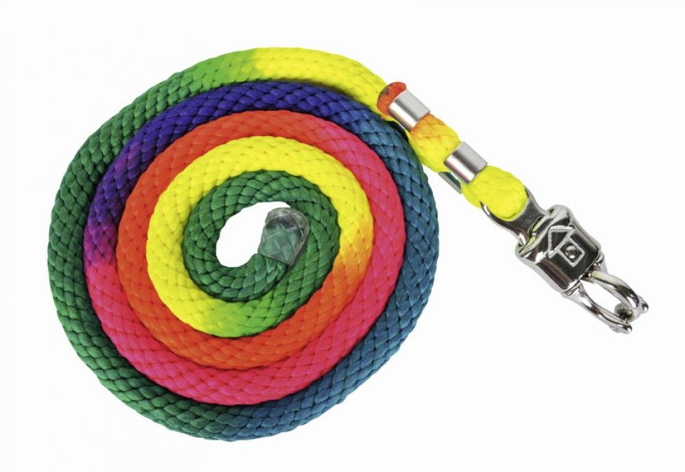HKM 559368 Strick Multicolor mit Panikverschluss, Länge 180 cm, bunt Länge 180 cm