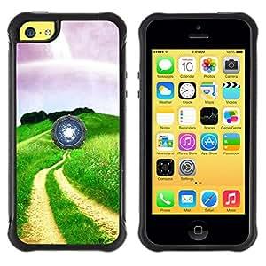 "Hypernova Defender Series TPU protection Cas Case Coque pour Apple iPhone 5C [Naturaleza Hermosa Forrest Verde 35""]"