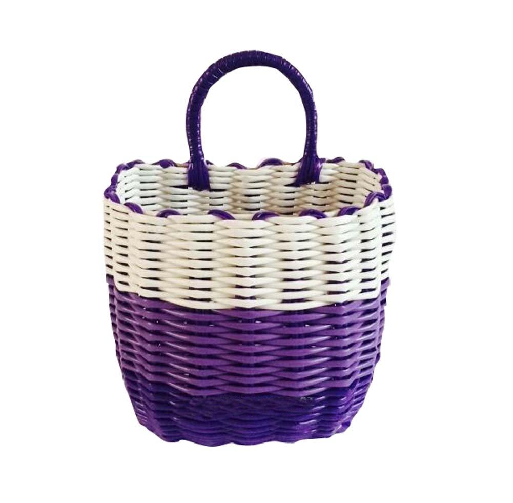 Elegant Purple Home/Office Wall Hanging Storage Basket Wonderful Organizer