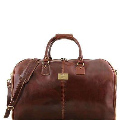 Tuscany Leather Antigua Sac de voyage/Housse de transport vêtements en cuir Marron j9917o
