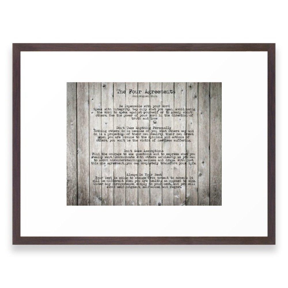 Amazon.com: Society6 The Four Agreements Framed Print Vector Black ...