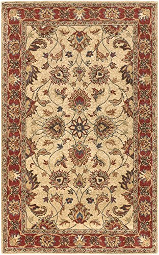 Surya Caesar CAE-1001 Classic Hand Tufted 100% Wool Tan 8' x 10' Oval Traditional Area (Copper Wool Rug)