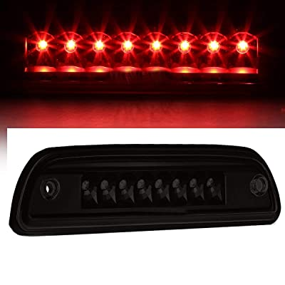 Third Brake Light Fit 1995-2015 Toyota Tacoma Truck Full LED 3rd Brake Stop Tail Lamp high mount brake light (Black Housing Smoke Lens): Automotive