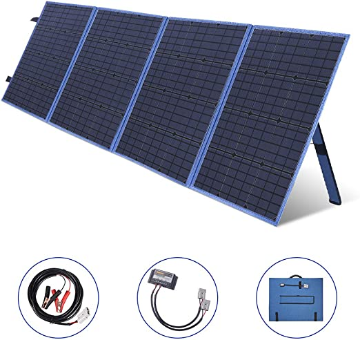 Amazon.com: MEGSUN Panel solar plegable portátil de 200 W ...