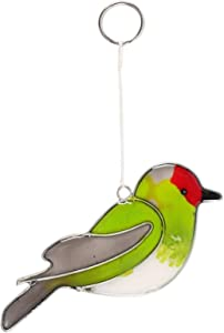 Jones Home & Gift Goldfinch Bird Colorful Hanging Suncatcher Kitchen Window Garden Decorative Mobile