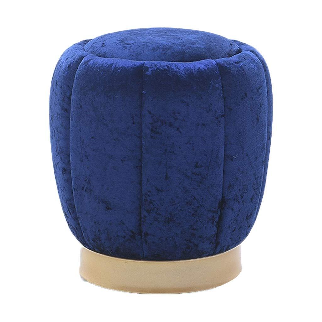 Las ventas en línea ahorran un 70%. Azul Ailj Escabel, Taburete del Sofá del del del Marco De Madera Sólida De La Sala De EEstrella Taburete De Maquillaje De Tela Dormitorio 38  43 Cm 3 Colors (Color   Azul)  autorización