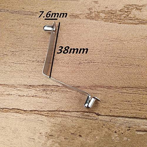 F-MINGNIAN-SPRING 50PCS Bottone 4,8 Millimetri di Diametro x 7,6 Millimetri in Altezza Doppio Acciaio Metallo a Pulsante Clip a Molla Larghezza 7 Millimetri X 38 Centimetri di Lunghezza