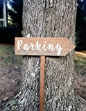 Parking Signs With Stake, Parking Sign Arrow, Rustic Parking Sign, Wood Parking Signs