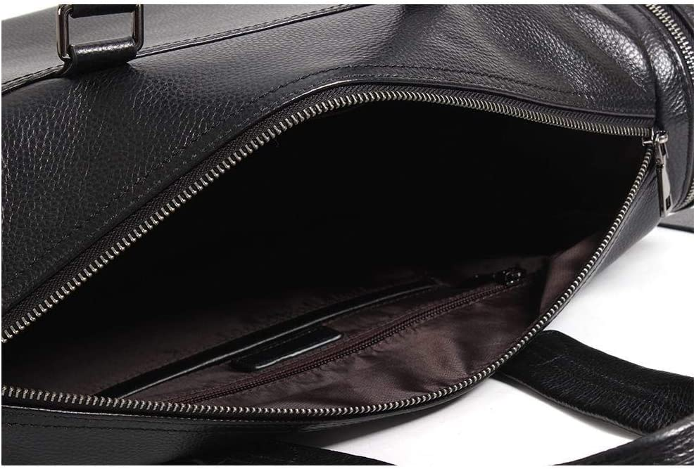 AUSWIEI Leather Mens Bag Top Layer Leather Casual Bag Shoulder Bag Messenger Bag Color : 2
