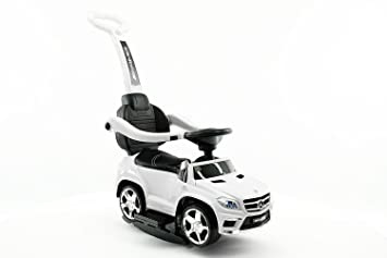 Licensed MERCEDES GL63 KIDS CONVERTIBLE RIDE ON PUSH AND FOOT TO FLOOR CAR  | WHITE